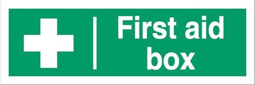Stewart Superior First-Aid Box Self Adhesive Sign Ref SP058SAV