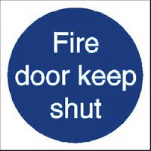 Stewart Superior Fire Door Keep Shut Sav Self Adhesive Sign Ref M014SAV [Pack 5]