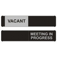 Vacant Meeting In Progress Sliding Sign