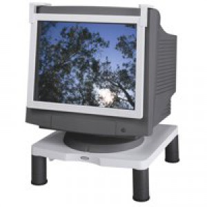 Fellowes Standard Monitor Riser 17in CRT 21in TFT 3 Heights 51-102mm Grey Code 91712