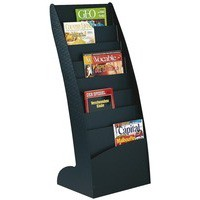 Literature Display Holder Curved 8x20mm Compartments 5.9Kg Black