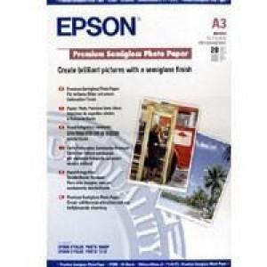 Epson Premium Photo Paper Semi-gloss 251gsm A3plus Ref S041328 [20 Sheets]