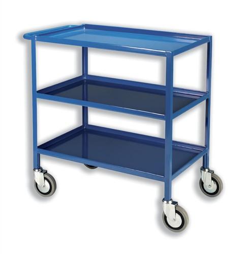 Tray Trolley 3 Tier Blue