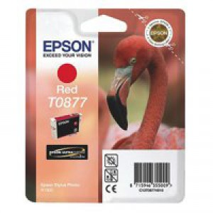 Epson T0877 Red Inkjet Cartridge