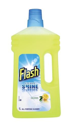 Flash All Purpose Cleaner for Washable Surfaces 1 Litre Lemon Fragrance Ref N05865