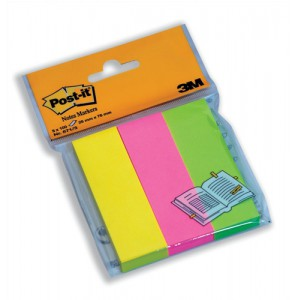 3M Post-it Notes Markers 25x76mm Neon Yellow Pink and Lime Code 671/3