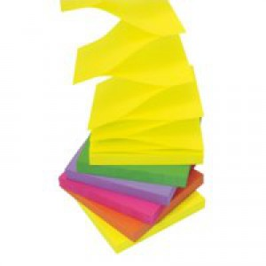Post-it Z-Notes 76x76mm Neon Rainbow Ref R330UC [Pack 6]