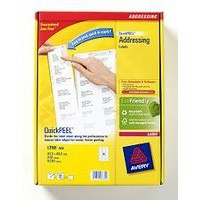 Avery Addressing Labels Laser Jam-free 18 per Sheet 63.5x46.6mm White Ref L7161-500 [9000 Labels]