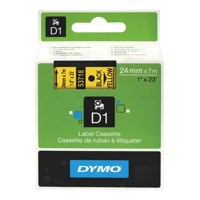 Dymo D1 Tape for Electronic Labelmakers 24mmx7m Black on Yellow Ref 53718 S0720980