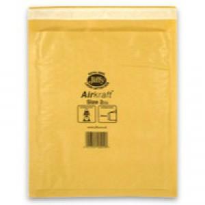 Jiffy Airkraft Bubble Bag Envelopes No.2 Gold 205x245mm Ref JL-GO-2 [Pack 100]