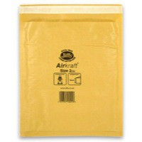 Jiffy Airkraft Bubble Bag Envelopes No.2 Gold 205x245mm Ref JL-GO-2 [Pack 100]