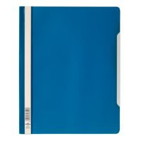 Durable Clear View Folder Plastic with Index Strip Extra Wide A4 Blue Ref 257006 [Pack 50]