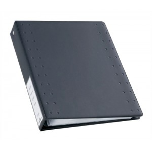 Durable CD and DVD Index 40 Ring Binder with 10 Pockets for 40 Disks A4 Charcoal Ref 5227/39/58