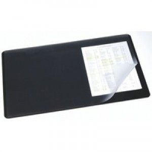 Durable Desk Mat With Transparent Overlay 600x400mm Black Code 7202/01