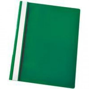 Esselte VIVIDA Report Flat File A4 Green Plastic With Clear Front Box 25
