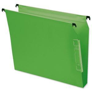 Elba Flex Lateral File Kraft 220gsm 30mm Square Base 330mm Green Pack 25