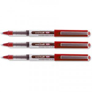 Uni-ball Eye UB150 Rollerball Pen Micro 0.5mm Tip 0.2mm Line Red Ref 9000502 [Pack 12]