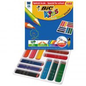 Bic Kids Evolution Pencils Colour Splinter-proof Wood-free Vivid Assorted Code 880500