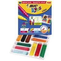 Bic Kids Visa Felt Tip Pens Ultra-washable Water-based Fine Tip Assorted Ref 887838 [Pack 144]