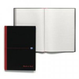 Black n Red Book Casebound 90gsm Ruled 384 Pages A4 Code 100080473