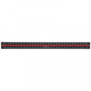 Linex Scale Ruler Triangular Aluminium Colour-Coded Scales 1-1 To 1-2500 Code LX382