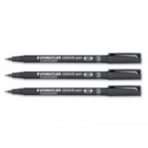 Staedtler Lumocolor CD/DVD Marker Pens Line 0.4mm Black
