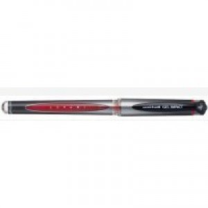 Uni-ball UM153S Impact Gel Rollerball 1.0mm Tip 0.8mm Line Red Ref 9006052 [Pack 12]