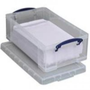 Really Useful Storage Box Plastic Lightweight Robust Stackable 12 Litre W270xD465xH150mm Clear Ref 12C