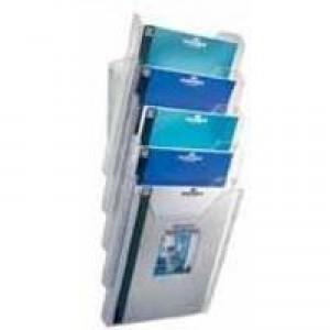 Durable Combiboxx Literature Holder Extendable A4 Clear Pack 3 Code 8580/19