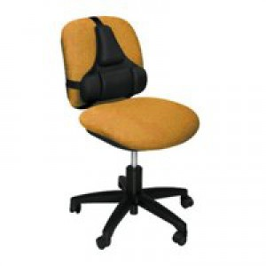 Fellowes Ultimate Back Support Tri-Tachment Adjustable Mid-spine and Lumbar W355xD50xH381mm Ref 8037601