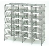 Versapak Mailsorter Adjustable Plastic-Coated Steel 24 Compartments W1067xD381xH1067mm Grey Ref MSU24-GYS