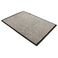 Door Mat Dust and Moisture Control Polypropylene 1200mmx1800mm Black and White