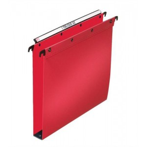 Elba Suspension File Polypropylene Vertical 350sheet 30mm Foolscap Red Ref 100330374 [Pack 25]