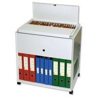 Filing Trolley Steel Capacity 120 A4 or Foolscap Files Grey