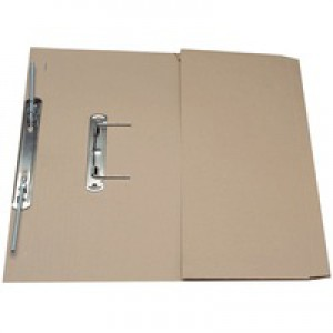 Guildhall Transfer Spring Files with Inside Pocket 315gsm 38mm Foolscap Buff Ref 349-BUFZ [Pack 25]