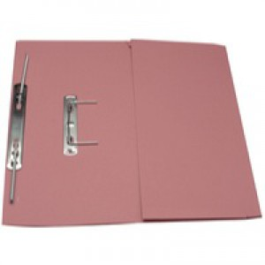 Guildhall Transfer Spring Files with Inside Pocket 315gsm 38mm Foolscap Pink Ref 349-PNKZ [Pack 25]