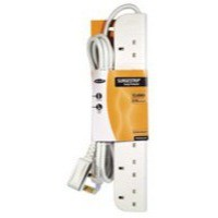 Image for Extension Lead Power Surge Strip with Spike Protection 4 Way 2 Metre White