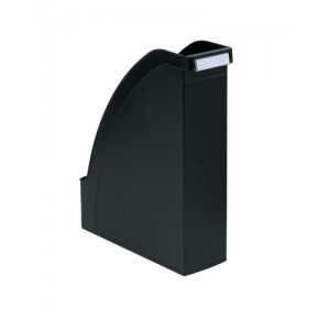 Magazine File Extra Capacity with Adjustable Spine Label Holder A4 Black