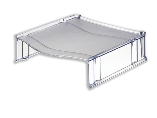 Universal Riser Platform for Letter Trays Translucent Grey