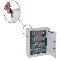 Phoenix 0032 Key Safe Electronic with Fixings Keyrings and Tags 48 Key 9kg W300xD100xH365mm Ref KS0032E