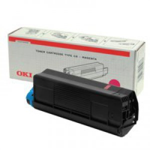 Oki C5000 Series Toner Cartridge Magenta 42127406