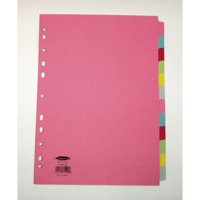 Concord Subject Dividers 230 Micron 12-Part A4 Assorted Ref 71499/J14