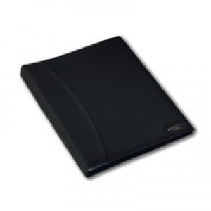 Rexel Display Book Soft Touch 24 Pockets with Cover Smooth Black Ref 2101185
