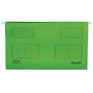 Elba Flex Suspension File V-base & Square Base Foolscap 220gsm Manilla Green Pack 25