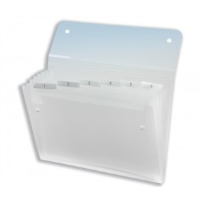 Rexel Ice Expanding Files Durable Polypropylene with Tabs 6 Pockets A4 Clear Ref 2102033