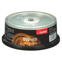 Image for Imation DVD+RW Rewritable Disk on Spindle 4x Speed 120min 4.7GB Ref i16867 [Pack 25]
