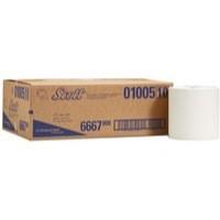 Scott Hand Towel Roll Single Ply for Ripple Dispenser Sheet Size 200x304mm White Ref 6667 [Pack 6]