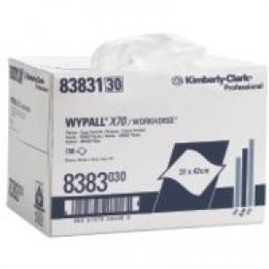 Wypall X70 Brag Box Cleaning Wipers Approx. 150 Cloths Ref 8383