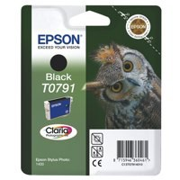 Epson T0791 Inkjet Cartridge Claria Owl 51g Page Life 470-570pp Black Ref C13T079140A0