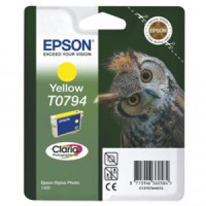 Epson Owl Claria Photographic Ink Yellow T0794